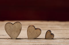 Valentines Day background with hearts Royalty Free Stock Photos