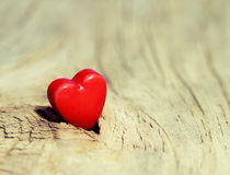 Valentines Day background. Hearts on Wooden Texture Royalty Free Stock Images