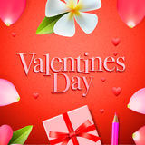 Valentines day background, holidays gift and heart Royalty Free Stock Photography