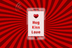 Valentines day background - hug kiss love Stock Photo