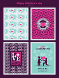 Valentines Day background for invitation card. Valentines Day Pattern background for invitation card Royalty Free Stock Images