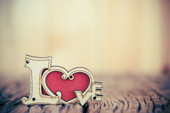 Valentines Day background with love heart. Stock Images