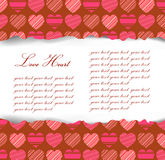 Valentines Day background.With love pattern, ripped paper Royalty Free Stock Photography