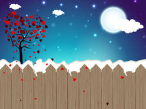 Valentines Day background with Love tree in winter season. EPS 1. 0 Royalty Free Stock Photos