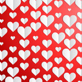 Valentines Day background with paper hearts Royalty Free Stock Photo