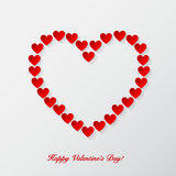 Valentines day background with paper hearts. Royalty Free Stock Images
