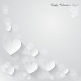 Valentines day background with paper hearts. Vector Stock Photography