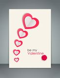 Valentines day background with paper hearts. Vector illustration vector illustration