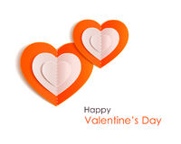 Valentines day background with paper hearts. Vector illustration royalty free illustration