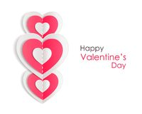 Valentines day background with paper hearts. Vector illustration stock illustration