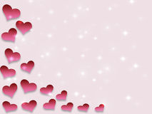 Valentines day background pattern hearts and light and stars. More available vector illustration