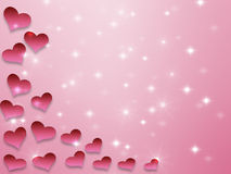 Valentines day background pattern hearts and light and stars. More available stock illustration