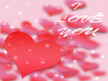 Valentines day background pattern hearts and light and stars. More available royalty free illustration