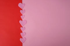 Valentines Day background with pink hearts Royalty Free Stock Photos