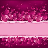 Valentines Day background with place for text Stock Photos