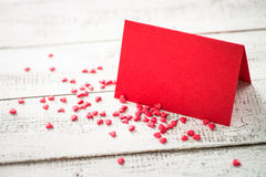 Valentines day background. Postcard confession of love. Red greeting card Stock Photography