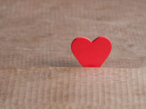Valentines day background with red heart on wood floor. Love and Valentine concept. Happy Valentine's day.  Royalty Free Stock Photo