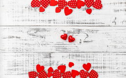 Valentines Day background Red hearts Royalty Free Stock Photos