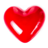 Valentines Day background with  Red Hearts isolated on white bac Stock Photo