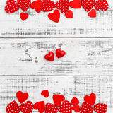 Valentines Day background Red hearts Stock Photo