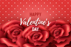 Valentines Day Background with red roses Stock Photography