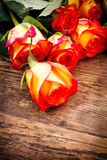 Valentines Day background with roses. Stock Image