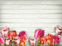 Valentines day background with roses. EPS 10 Stock Photography