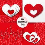 Valentines day background set Stock Photos