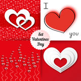 Valentines day background set. Valentines day background valentine love heart valentine background cupid valentine card heart background heart vector valentines Royalty Free Stock Photo