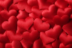 Valentines day background with red hearts. Valentines day background or texture with red hearts royalty free stock photos