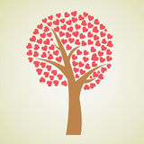 Valentines day background. Tree with hearts () Stock Photo