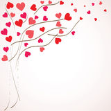 Valentines day background. Tree with hearts () Royalty Free Stock Photos