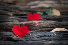 Valentines Day background with two hearts Stock Photography