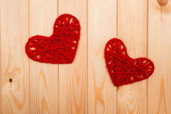 Valentines Day background. Two hearts Royalty Free Stock Photos