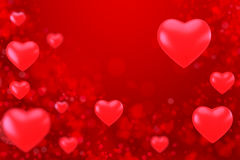 Valentines day background. Valentine heart on abstract background Stock Image
