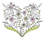 Valentines Day background, vector. Illustration Royalty Free Stock Photo