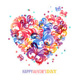Valentines day background. Vector greeting card template Stock Photos