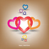 Valentines Day background. Vector of Valentines Day heart background with text , illustration Stock Images