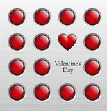 Valentines day background, vector illustration Royalty Free Stock Photo