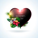 Valentines day background. Vector illustration. Royalty Free Stock Photography