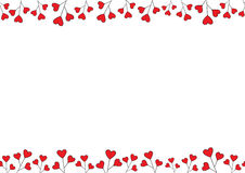 Valentines Day Background. Vector seamless Frame with Space for your Text. Stock Photos