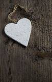 Valentines Day background white clay Heart Stock Photography