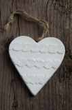 Valentines Day background white clay Heart Royalty Free Stock Photo