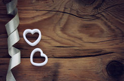 Valentines day background with white hearts Royalty Free Stock Photo