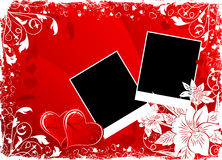 Valentines Day Background With Hearts And Flowers Royalty Free Stock Photo