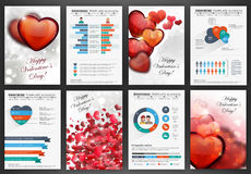Valentines day backgrounds with hearts Stock Photography