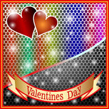 Valentines Day Backgrounds. Valentina Deco Stars the Classic the Lightning the Darling the Romance Red Love Heart royalty free illustration