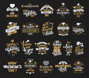 Valentines Day badges set Royalty Free Stock Image