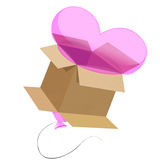 Valentines Day Balloon in a box Royalty Free Stock Images