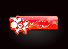Valentines day banner Stock Photo